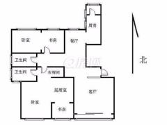 急租豪华装修麦岛金岸208平大套二出租低楼层一览小区美景