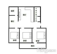 (胶南)教师之家3室2厅1卫95m²简单装修