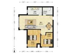 (胶南)世纪花园南区2室1厅1卫85m²中档装修