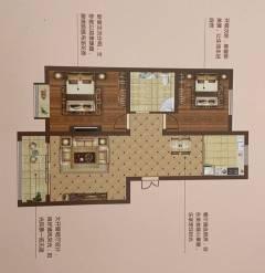 2室2厅1卫84.69m²毛坯房