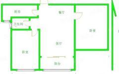 (胶南)书香蔓城2室1厅1卫75m²精装修
