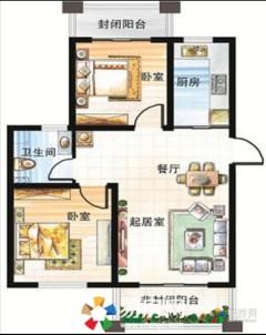 (胶南)山水新城2室1厅1卫77m²毛坯房